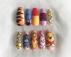 Disney Acrylic Nails, Acrylic Nail Set, Cute Acrylic Nail Designs, Best Acrylic Nails, Gel Nagel Design, Funky Nails, Fire Nails, Dream Nails, Stylish Nails