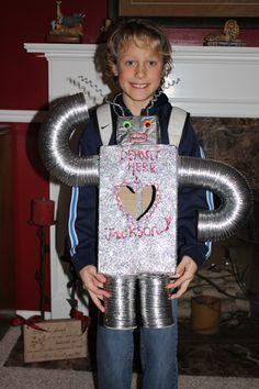 Robot Valentine Box!! #Valentine Box