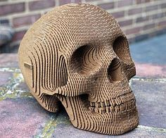 Cardboard Paper Skull