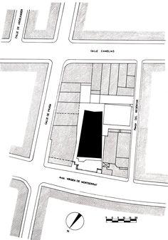 MBM. Iglesia del Redentor. 1957-1968 situació Diagram, Timber Frames