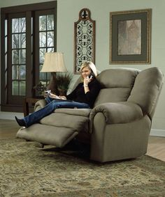 Stylish Eve Oversized Recliner for two... Problem solved! Where's my butt touch and taco?