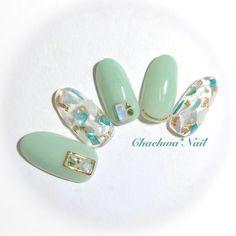 春/夏/デート/海/ハンド - chaehwa_8127のネイルデザイン[No.2997227]|ネイルブック Cute Acrylic Nails, Glitter Nails, Gel Nails, Japanese Nail Design, Japanese Nails, Fancy Nails, Pretty Nails, Lilac Nails Design, Japan Nail Art