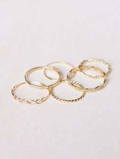 Assorted Dainty Rings from Irene