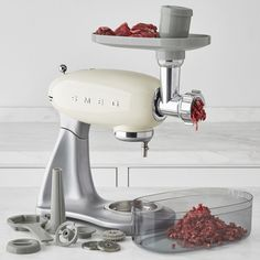 Shop smeg from Williams Sonoma. Our expertly crafted collections offer a wide of range of cooking tools and kitchen appliances, including a variety of smeg. Smeg Kitchen, Kitchen Aid Mixer, Retro Appliances, Kitchen Appliances, Small Appliances, Cool Kitchen Gadgets, Cool Kitchens, Kitchenaid Meat Grinder, Smeg Stand Mixer