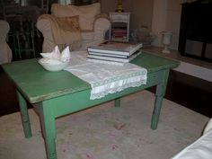 Anything Shabby Chic: New Coffee Table. jb: this is a before pic see the after pic on my shabby board