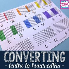 Teaching students to understand and convert fractions from tenths to hundredths- Hands-on, engaging lesson plans to help students understand the concepts in 4.NF.5.  $