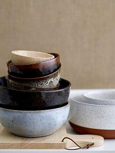 Scandinavian style interior and decor, rustic ceramics