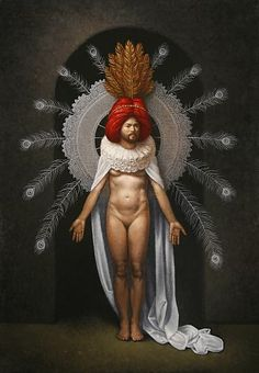 """""""The Alchemical Marriage,"""" oil on canvas   40 x 28 in. Steven Kenny  2010"""