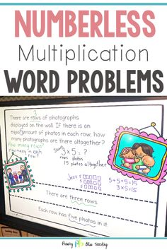 These Numberless Math Word Problems Will Help Your And Grade Students Accurately Solve All Types Of Single-Digit Word Problems. They Come In A Paperless, Digital Version And A Printable Version. Instructors Love Them Get Your Set Today First Grade Lessons, First Grade Activities, Teaching First Grade, First Grade Math, Math Lessons, Word Problems 3rd Grade, Math Fact Practice, Math Fact Fluency, Math Words