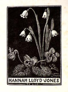 bookplate for Hannah Lloyd-Jones - by Lionel Lindsay, 1942 Ex Libris, Lloyd Jones, Pastel Watercolor, Art Programs, Painting Edges, Wood Engraving, Op Art, Flower Art, Printmaking