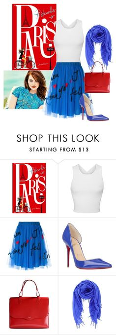 """Bleu Blanc Rouge"" by briannaandrews500 ❤ liked on Polyvore featuring Chronicle Books, Jonathan Simkhai, P.A.R.O.S.H., Christian Louboutin, Rochas, Chan Luu, women's clothing, women's fashion, women and female"
