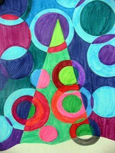 christmas tree - op art