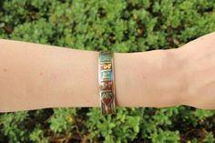 Copper & brass mantra adjustable cuff $7.95 USD #boho #gypsy #bohojewelry #hippiejewlery #gypsyjewelry