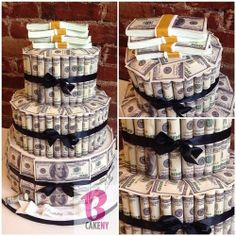 Money Cake...what a cute idea!