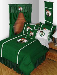 Boston Celtics NBA Sidelines Room Comforter and Sheet Set Size Twin  #SportsCoverage