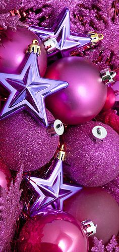 I LOVE THE PURPLE STAR CHRISTMAS ORNAMENTS AND THE OTHERS ARE NICE TOO.