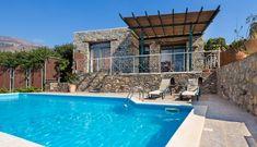 Villa w/Pool, close to Elafonissi famous Beach - Villas for Rent in Chania, Greece Famous Beaches, Beach Villa, Crystal Clear Water, Private Pool, Crete, Jacuzzi, Pergola, Villas, Outdoor Decor