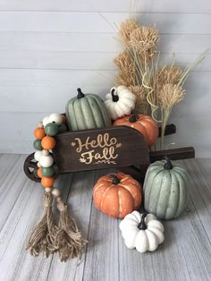 This listing is for the gourd-geous farmhouse bead garland. It's made from hand painted wooden beads on a twine sting with handmade twine tassels. It's approx 35 inches long. This garland goes great on a tier tray or coffee bar Autumn Decorating, Porch Decorating, Decorating Ideas, Fall Porch Decorations, Diy Thanksgiving Decorations, Front Porch Fall Decor, Pumpkin Decorating, Fall Home Decor, Autumn Home