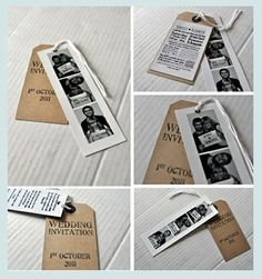 Photo Strip Wedding Invitations and Save The Dates. You can be as original as you want!  Visit www.cardsmadeeasy.com and order your wedding stationery now :)