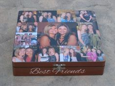 Modpodge pics of you and a best friend on a box!!!