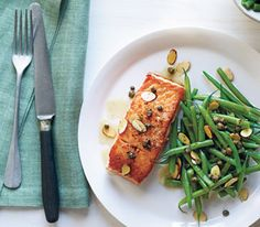 Salmon With Brown Butter and Almonds