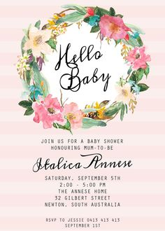 Bebé ducha invitación/Shabby Chic té invitación por LittleInvites
