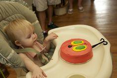 Very Hungry Caterpillar smash cake!