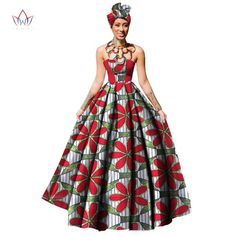 Gender: Women Sleeve Style: Strapless Estimated Delivery Silhouette: Ball Gown Waistline: Empire Neckline: Strapless Decoration: Zippers Material: Cotton Sleeve Length(cm): Sleeveless S Latest African Fashion Dresses, African Dresses For Women, African Attire, African Wear, African Style, African Dress Patterns, African Print Dresses, African Print Fashion, Africa Fashion