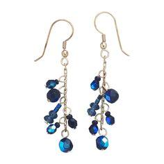 Brdiesmaids earrings Inky Blue Earrings #tenthousandvillages