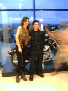 Claudia Bassols and me