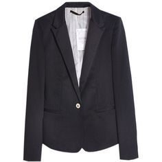 Black Tailored Blazer (69 BRL) ❤ liked on Polyvore featuring outerwear, jackets, blazers, chicnova, blazer, tailored blazer, blazer jacket, long sleeve blazer, long sleeve jacket and 1 button blazer