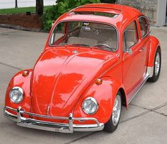 Orange 1967 Classic VW Beetle!