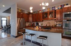 Lots of calories consumed in this kitchen - Michael Phelps' Baltimore home.