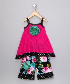 RED Ruffles Pink Polka Dot Tank & Leggings - Toddler & Girls  #zulily #fall