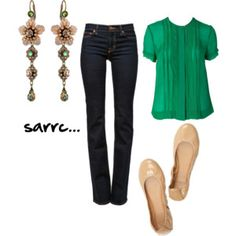 Casual outfit - Lovely green
