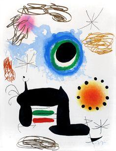 JOAN MIRÓ-La ralentie 1969 Gravure originale, eau-forte, aquatinte et carborundum, signée au crayon par l'artiste. Galerie Maeght Editeur, Paris. Dupin n°517