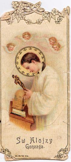 Holy Prayer Card Catholic  Polish Prayer Card of St. by EandO, $10.00