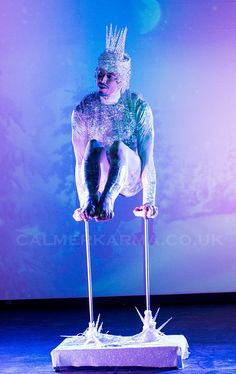 Winter Wonderland themed stage entertainment to hire - stunning Ice King Hand Balancing. Corporate Entertainment, Wedding Entertainment, Snow Fairy, Ice King, All Themes, Aerial Arts, Aerial Silks, Ballet, Picture Postcards