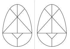 Atividade artística Educação Infantil ovo Tangram Homeshcooling. / Easter Symbols, Peace, Egg As Food, Early Education, Tips, Art, Icons, Sobriety, World