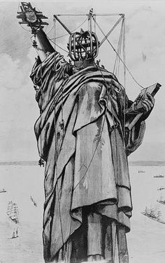 The Statue of Liberty Was Finally Assembled in1886  After Being Shipped France, the Statue Was Placed on Bedloe'sIsland    A French freighter brought the statue to New York and it was finally assembled in 1886.