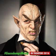 Pin for Later: Revisit Your Childhood Nightmares With Pictures From the Goosebumps Movie  And I'm assuming this is a vampire.