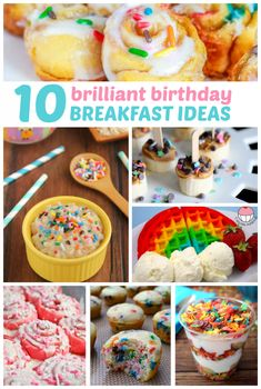Brilliant birthday breakfast ideas because everyone should feel special on their birthday! Birthday Breakfast Ideas that your kids and loved ones would be thrilled to eat. These are fun and festive and of course, yummy. Kids Birthday Breakfast, Birthday Brunch, Birthday Dinners, Breakfast For Kids, Best Breakfast, Birthday Fun, Breakfast Recipes, Birthday Wishes, Birthday Nails
