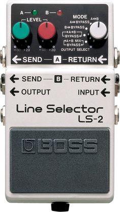 Boss LS-2: Line Selector  Simplifies Your Setup  Pedal Line Selector mewakili cara mudah untuk memilih settingan di beberapa efek atau amplifier, atau untuk rute signal input dan output. Dua line loop dan 6 mode looping menyediakan berbagai macam variasi aplikasi yang luas