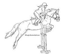 drawing of horse jumping - Google Search
