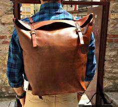 Agarapati Leather Deri Seyahat Sırt Çantası