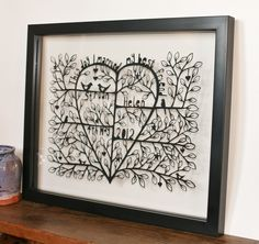 This day-a customised, hand cut, paper cut, wedding, valentines, present   £90.00