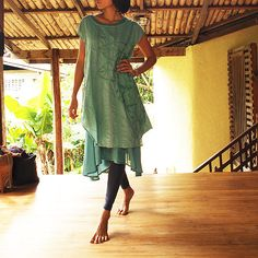 Artistic collection...Sunflower layered dress Mint by cocoricooo