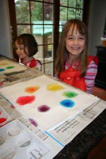 Paper Towel Color Wheel