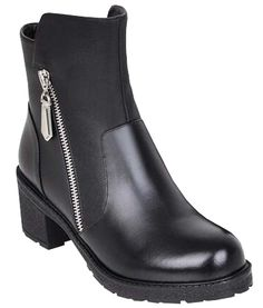 Thick heels bilateral zipper with leather bottom boots winter ** You can find out more details at the link of the image.