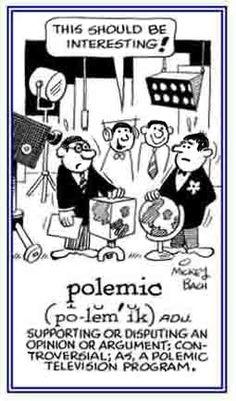 「polemic」激論、論争